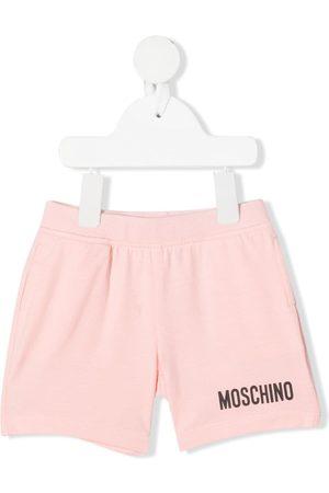 Moschino Logo-print track shorts