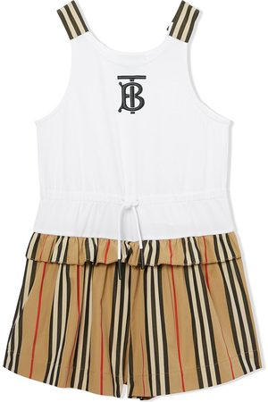 Burberry Icon-stripe playsuit
