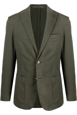 ELEVENTY Single-breasted cotton-blend blazer