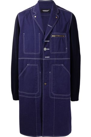 UNDERCOVER Colour block single breasted coat