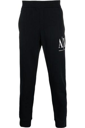 Armani Logo-embroidered track pants