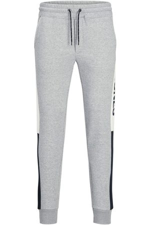 Jack & Jones Heren Joggingbroeken - Will Logo Blocking Sweatpants Heren Grijs