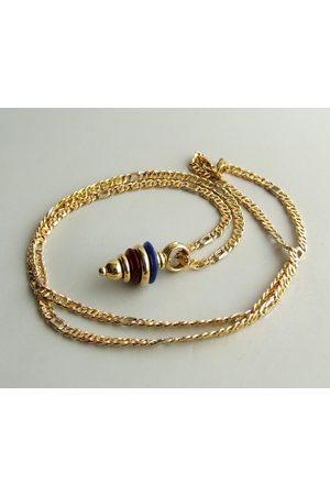 Christian 18 karaat gouden collier met lapis lazuli hanger