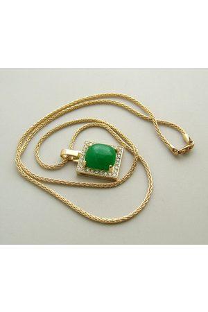 Christian Dames Kettingen met hanger - Gouden collier met nefriet hanger