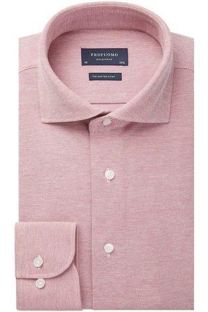 Profuomo Heren Overhemden - Heren roze knitted overhemd Originale