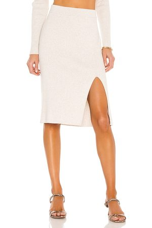 Bobi BLACK Fine Cotton Sweater Skirt in