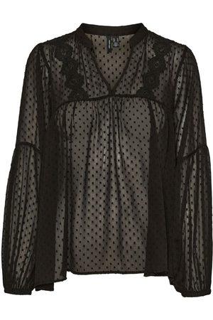 Vero Moda V-neck Long Sleeved Top Dames Zwart