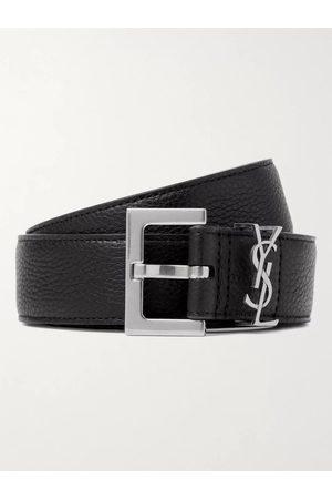 Saint Laurent Heren Riemen - 3cm Full-Grain Leather Belt