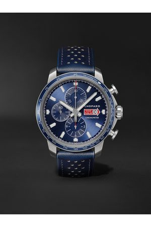 Chopard Mille Miglia GTS Azzurro Chrono Automatic Limited Edition 44mm Stainless Steel and Leather Watch, Ref. No. 168571-3007