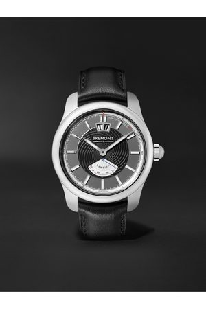 Bremont Heren Horloges - Hawking Limited Edition Automatic 41mm Stainless Steel and Leather Watch