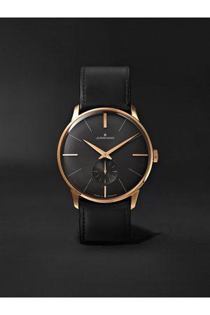 Junghans Heren Horloges - Meister Handaufzug Hand-Wound 37.7mm Stainless Steel and Leather Watch, Ref. No. 027/5903.00