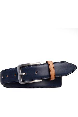 Profuomo Heren Riemen - Heren belt handpolished blue