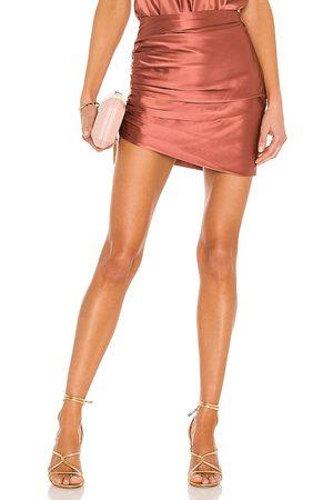 The Sei Gathered Asymmetrical Mini Skirt in