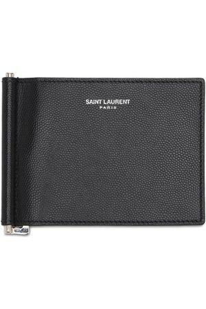 Saint Laurent Logo Leather Bill Clip Wallet