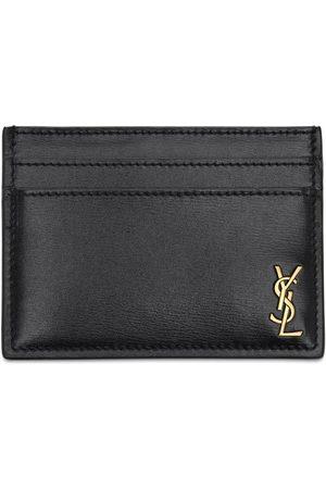 Saint Laurent Tiny Monogram Leather Card Holder