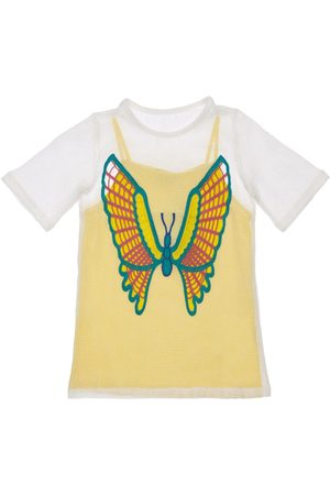 Stella McCartney Meisjes Jurken - 2-in-1 Mesh Dress W/ Butterfly Crochet