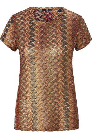 Riani Dames Korte mouw - Shirt ronde hals en korte mouwen Van goudkleur