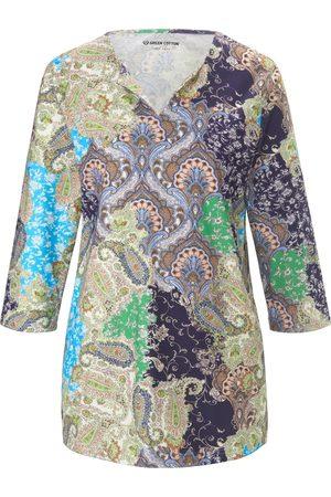 Green Cotton Shirt 100% katoen paisleyprint Van