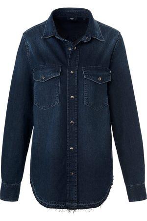JOOP! Dames Blouses - Jeansoverhemd 100% katoen lange mouwen Van denim