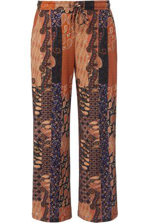 Green Cotton Dames Broeken - Enkellange broek 100% katoen print Van