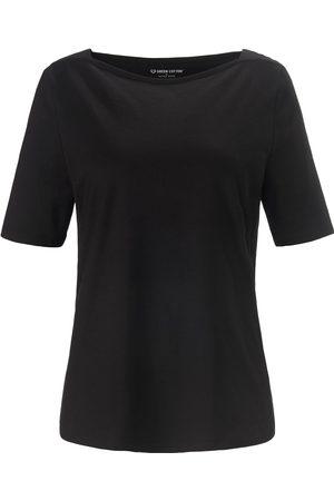 Green Cotton Shirt 100% katoen boothals Van