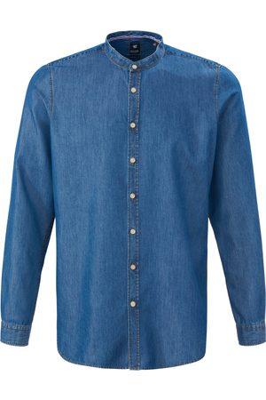 Hatico Jeansoverhemd staande kraag Pure denim