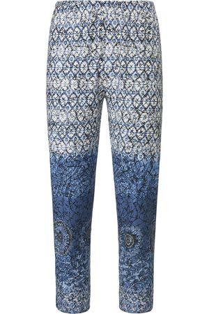 Green Cotton 7/8-broek 100% katoen ornamentenprint Van