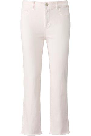 DL1961 7/8-jeans Daydream model Mara Straight Mid Rise Van lichtroze