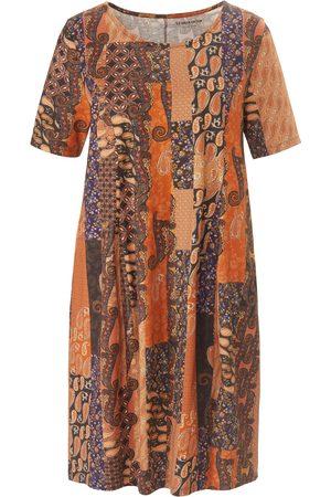 Green Cotton Dames Geprinte jurken - Jerseyjurk van 100% katoen print