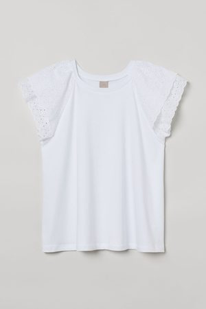 H&M + Top met broderie anglaise