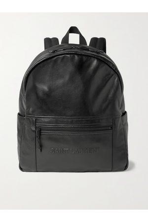 Saint Laurent Heren Portemonnees - Logo-Embossed Leather Backpack