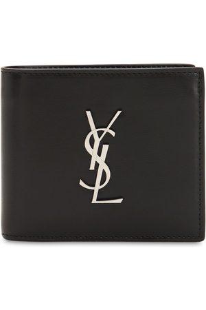 Saint Laurent Heren Portemonnees - East/west Logo Leather Wallet