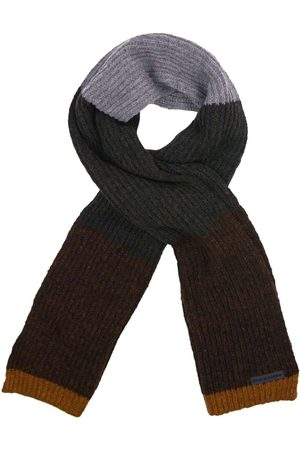 No Excess Scarf multi color rib knit bronze