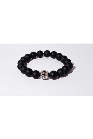Mr.FRILL Handmade bracelets black agate stone black matte