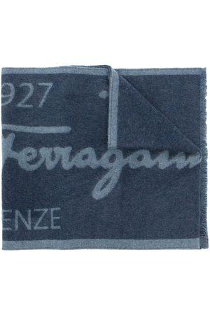 Salvatore Ferragamo Heren Sjaals - Two-tone logo wool scarf