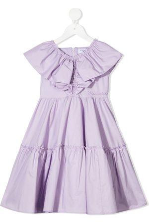 MONNALISA Tiered ruffled midi dress