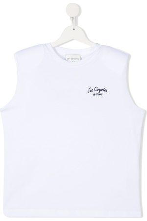 Les Coyotes de Paris TEEN Devon embroidered sleeveless T-shirt