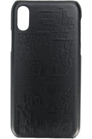Saint Laurent Crocodile effect iPhone 10 case