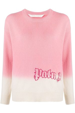 Palm Angels Logo-embroidered tie-dye jumper
