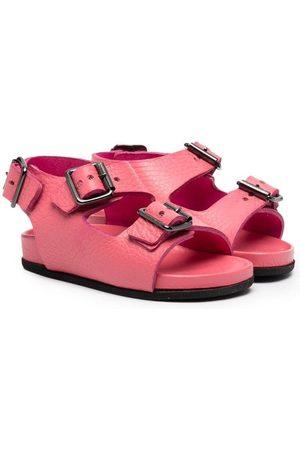 GALLUCCI Buckle-strap leather sandals