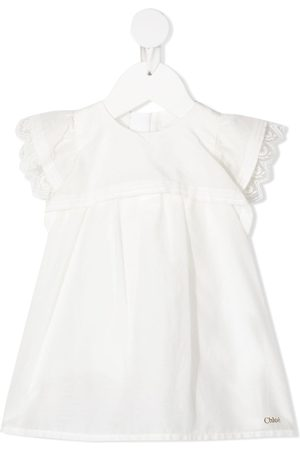 Chloé Lace-trimmed short-sleeved dress