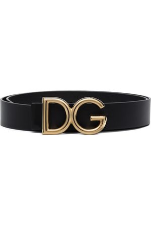 Dolce & Gabbana DG logo-plaque buckle belt