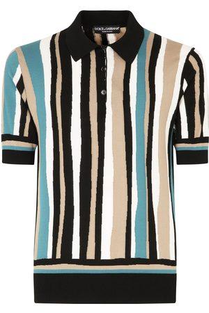 Dolce & Gabbana Heren Korte mouw - Vertical-stripe short-sleeve polo shirt