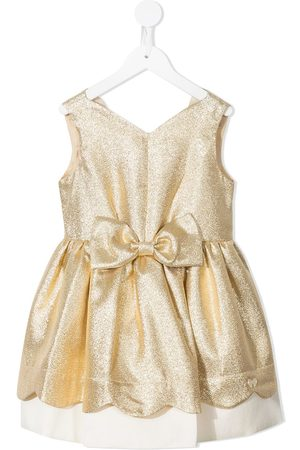 HUCKLEBONES LONDON Metallic-effect bow-detail dress