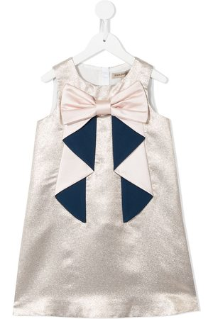 HUCKLEBONES LONDON Bow-detail sleeveless dress
