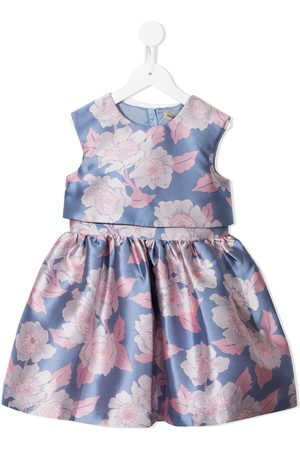 HUCKLEBONES LONDON Floral-print sleeveless dress
