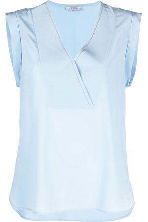 PESERICO SIGN V-neck sleeveless blouse