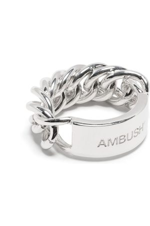AMBUSH Logo-engraved chain ring 4