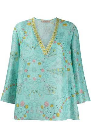 Emilio Pucci Shell-print linen cover-up