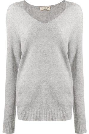 MA'RY'YA Ribbed-knit V-neck sweater